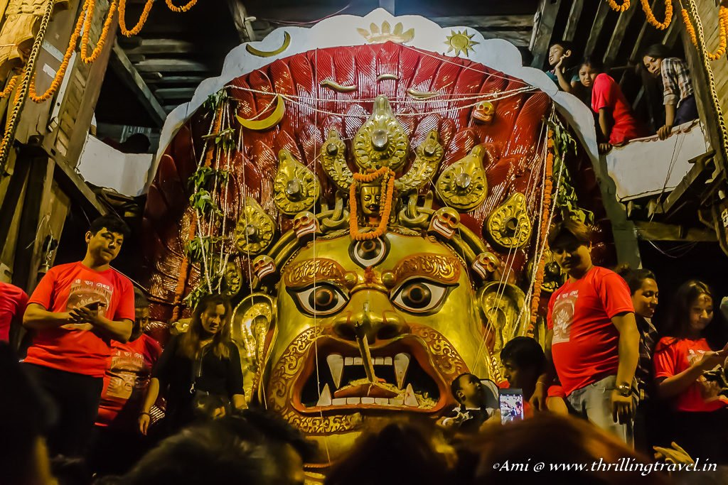 Sweta Bhairava with the cigar at Indra Jatra