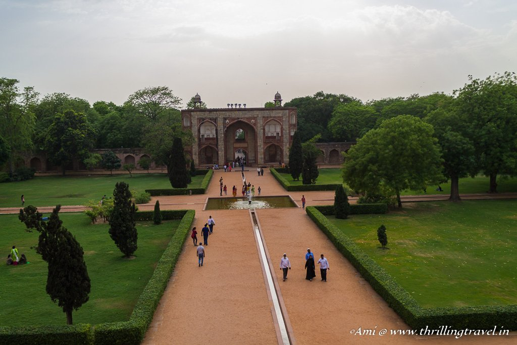 One part of Char Bagh as seen from Humayun's tomb