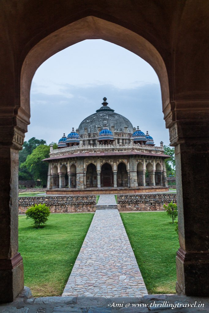 The last glimpse of Isa Khan's tomb at Humayun's Tomb