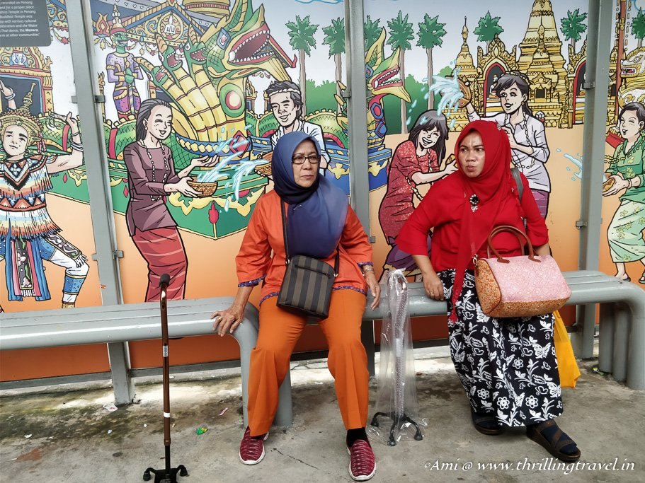 Colorful Bus stops in Penang