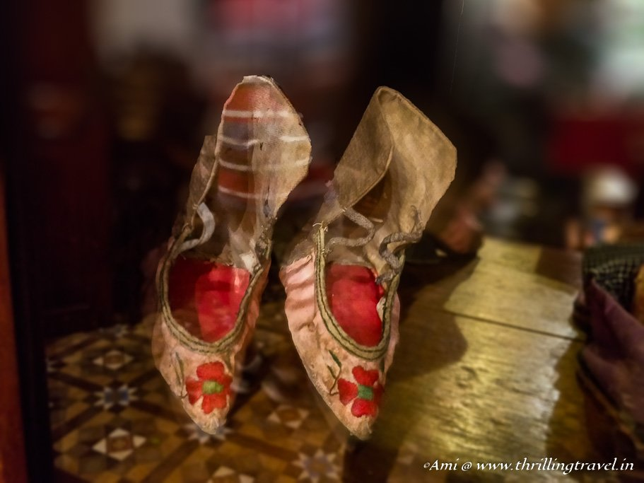 The ladies shoes worn after Foot binding done by the Peranakan Chinese
