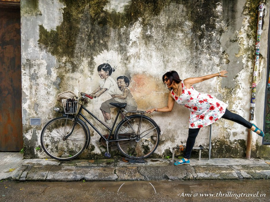 The Iconic Penang Street art by Ernest Zacharevic
