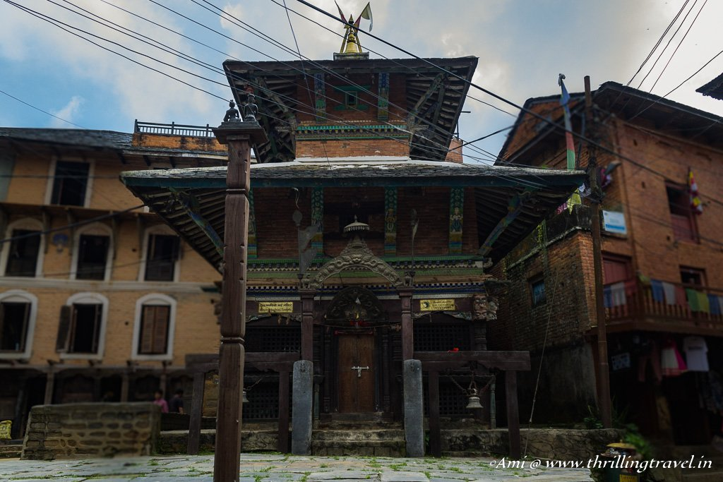 An old Newari temple in Bandipur