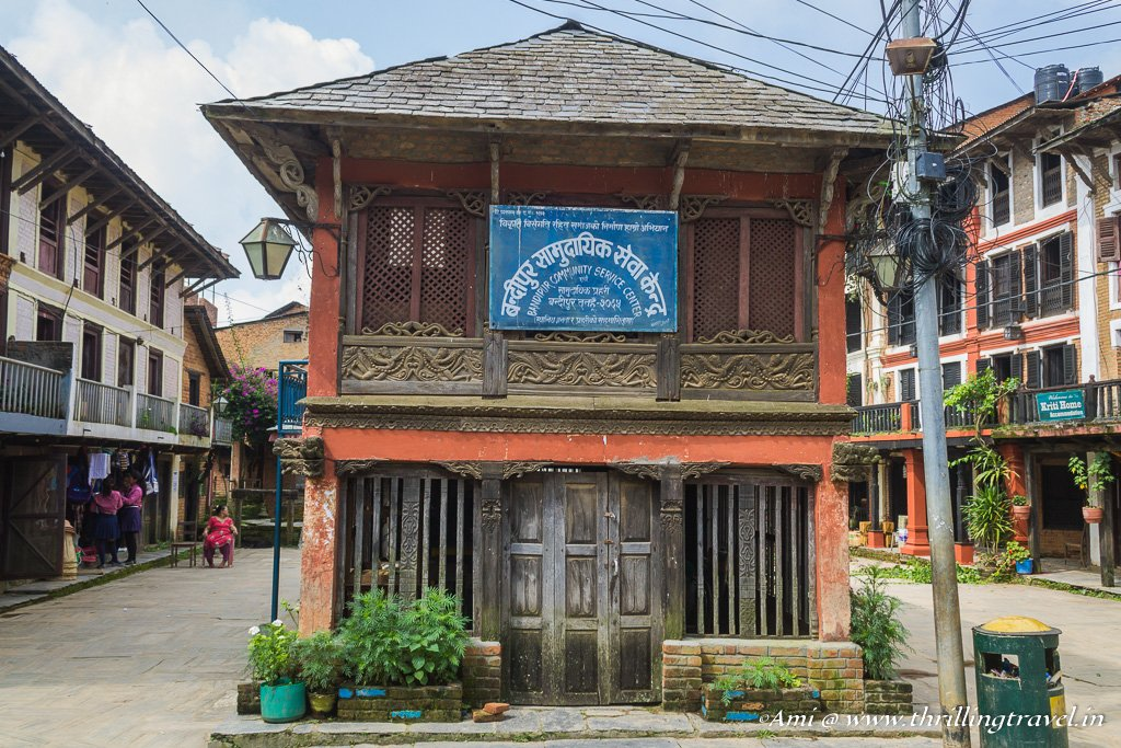 TThe old Newari building that is now Bandipur Community Service Center