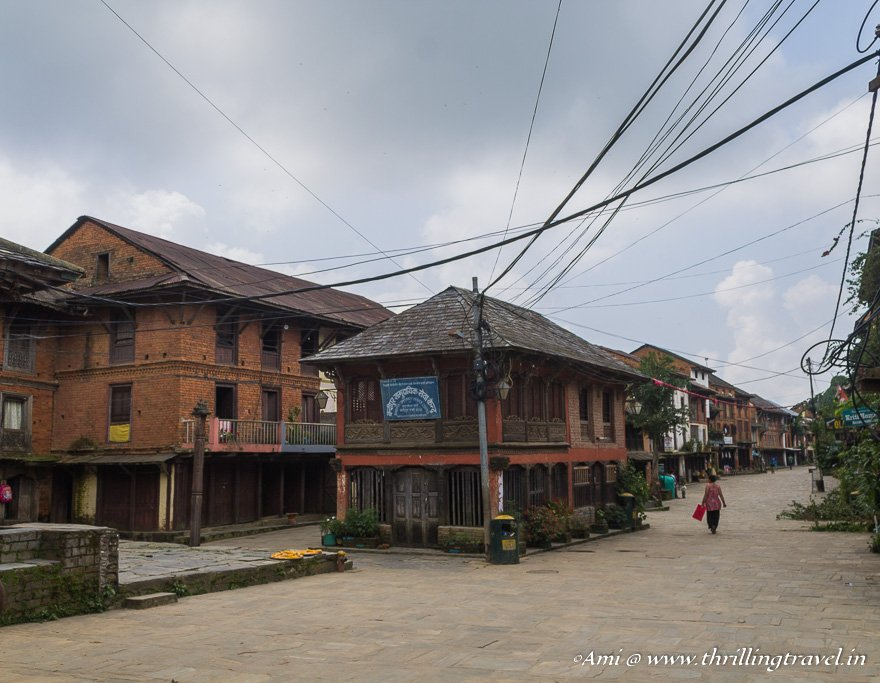 The cute European style Newari Hamlet of Bandipur, Nepal