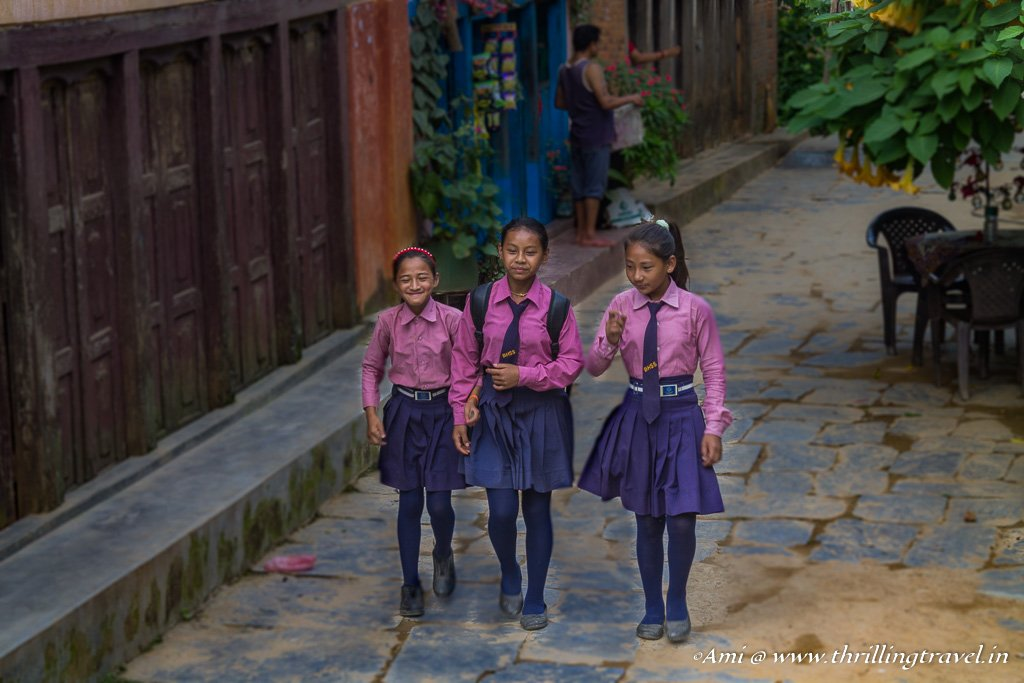 The School kids in Bandipur