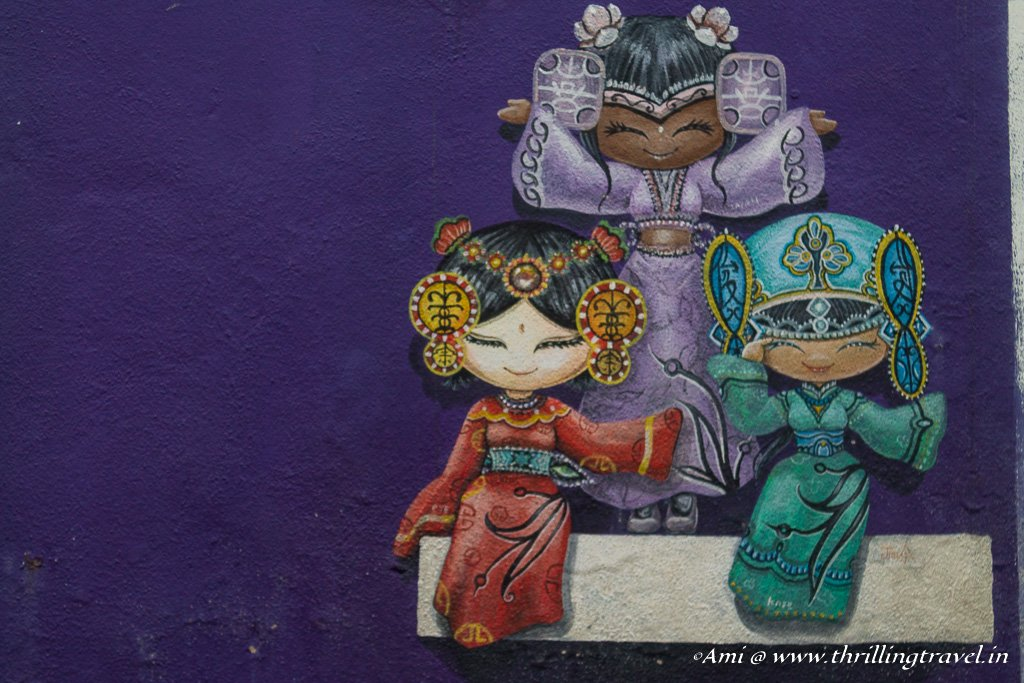 Meeting the relatives during the Penang Street Art tour