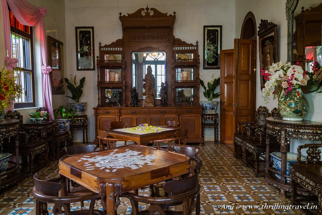 The card rooms in Pinang Peranakan Mansion, Penang