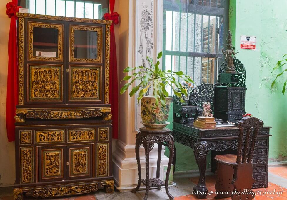 Furniture at Pinang Peranakan
