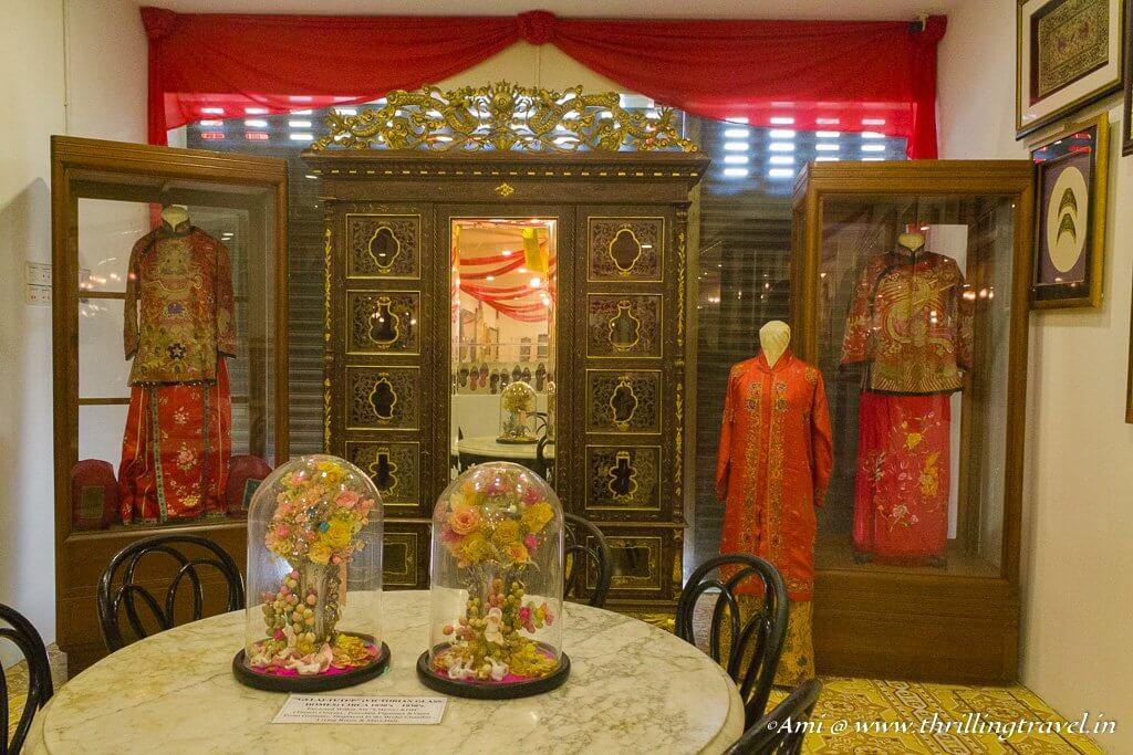 The wedding Kebaya of Nonya and Baba at Pinang Peranakan