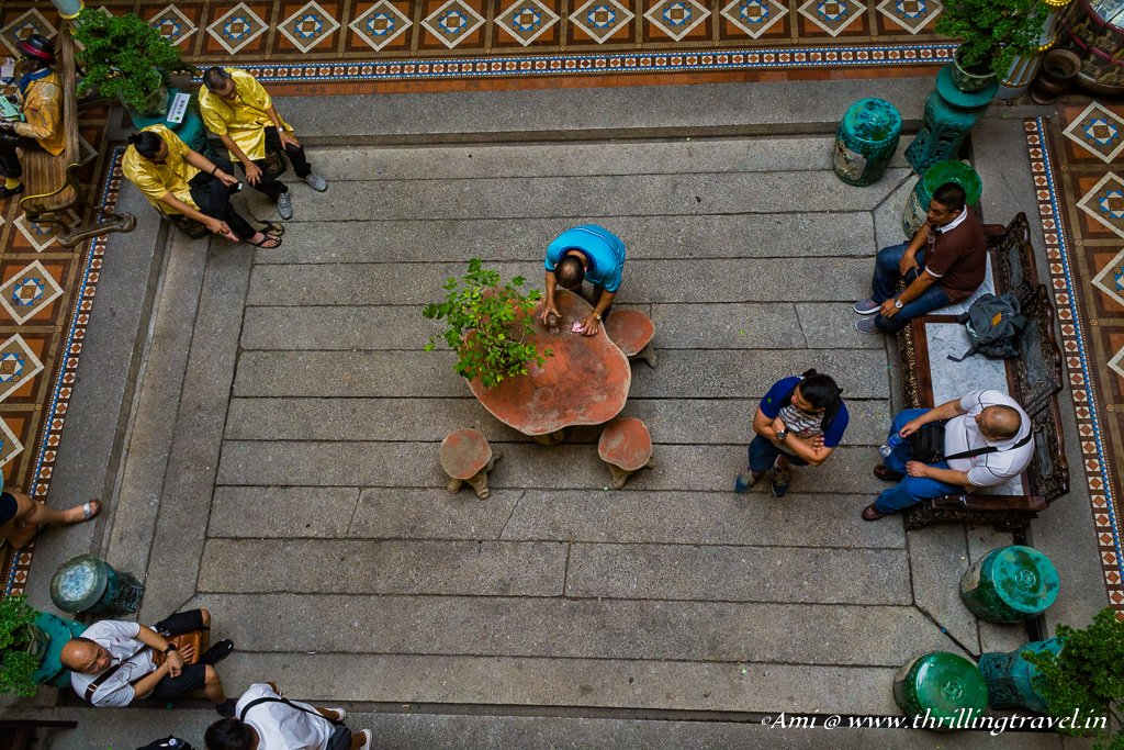 Adding life to the Pinang Peranakan courtyard