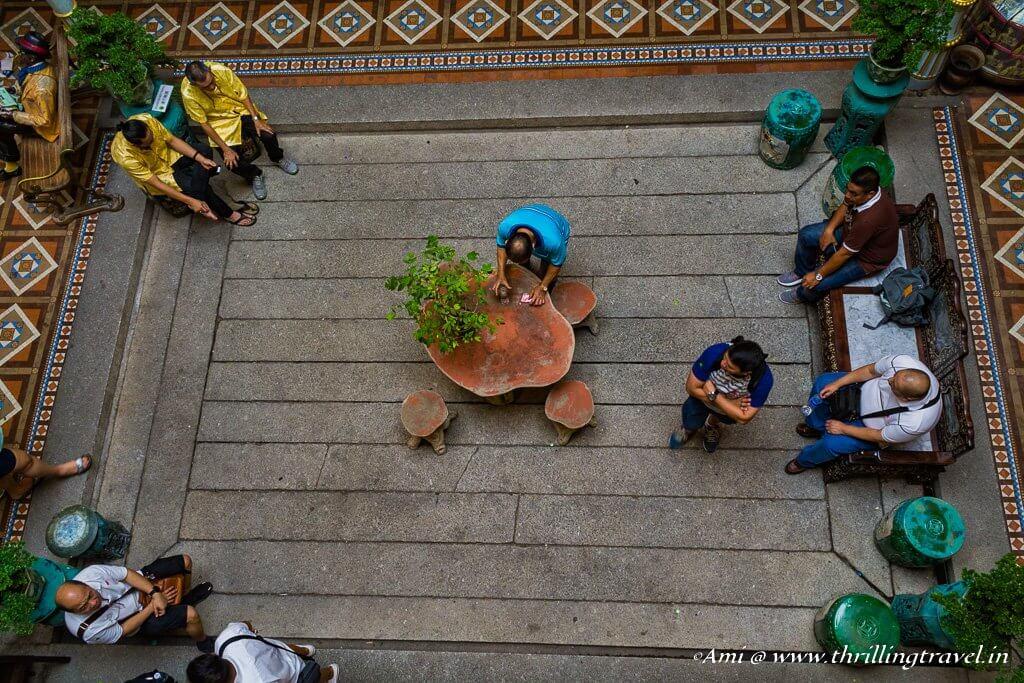 Adding life to the Pinang Peranakan courtyard