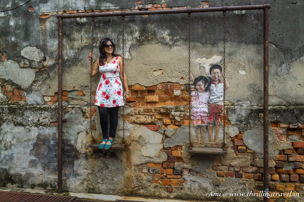 Playing with the Kids -Penang Street Arts