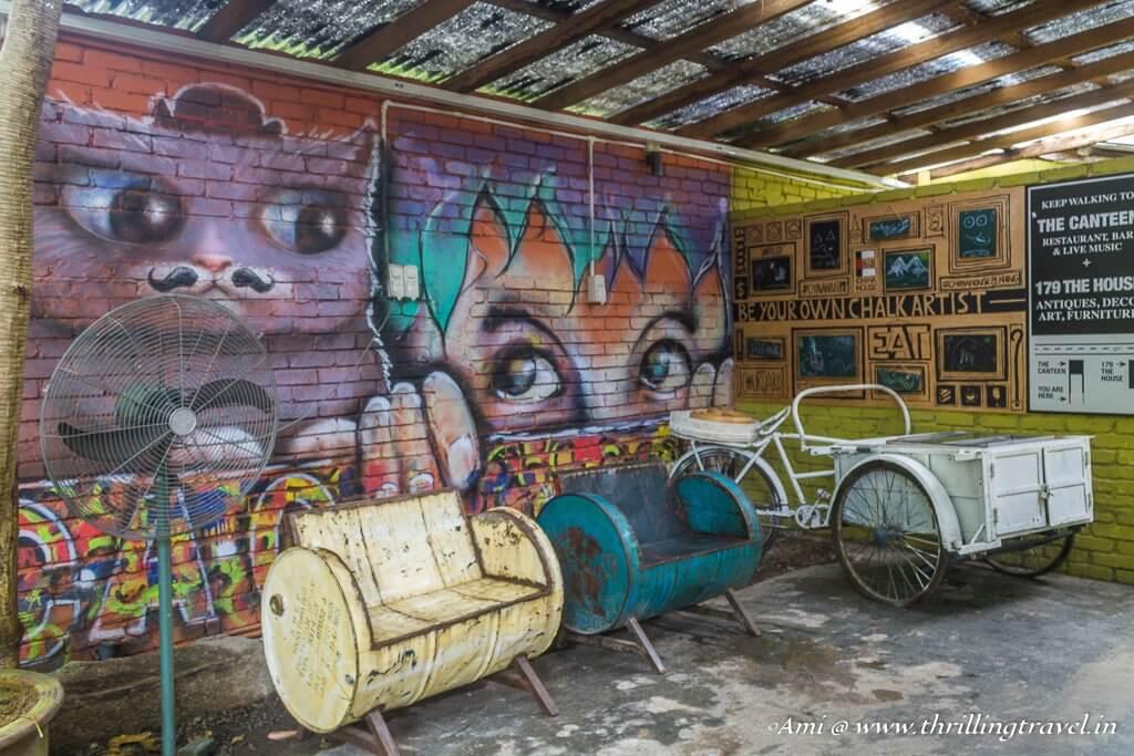 Street Art within Kopi C Cafe