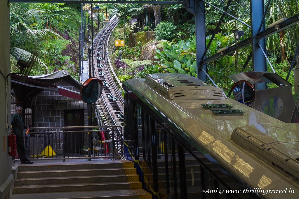 The Funicular that takes you atop Penang Hill