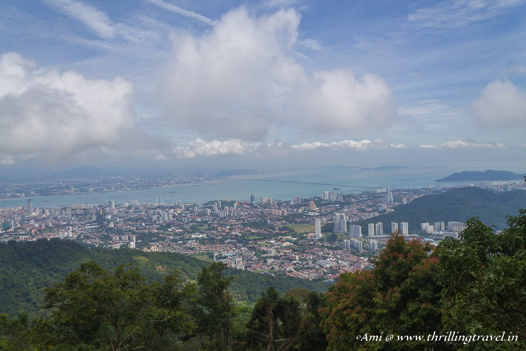 A view of George Town from the view point at Penang Hill