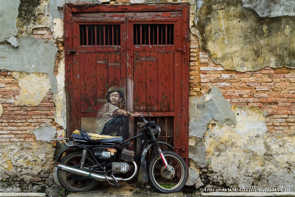 One of the 6 iconic Penang Street Arts by Ernest Zacharevic