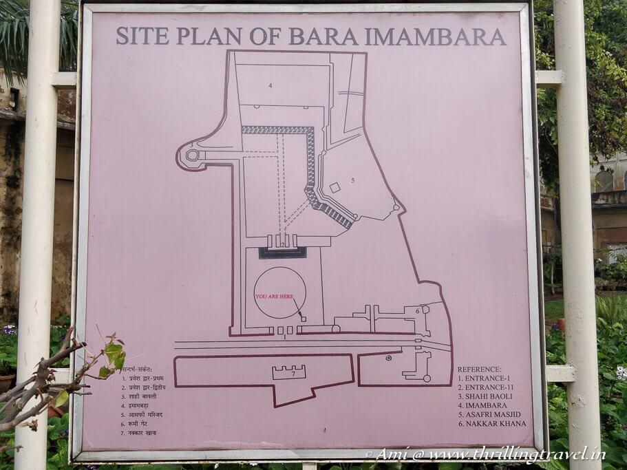 Bara Imambara Plan