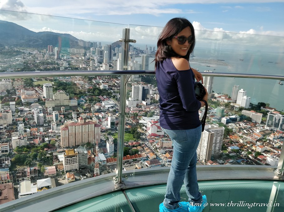 Walking on the Glass Skywalk - one of the things to do in Penang