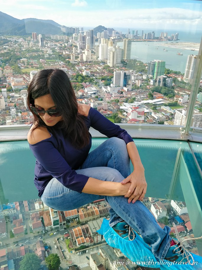 sitting on that glass on the 68th floor, Komtar Penang