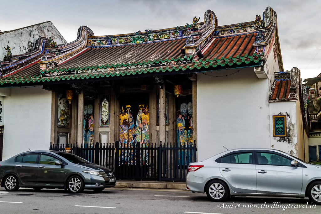 Chinese mansions along the Street of Harmony, Penang