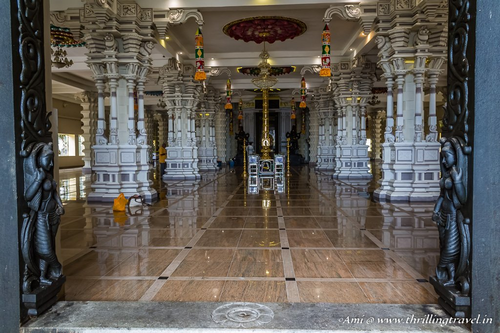 Inside the ArulmiguBalathandayuthapani temple, Penang