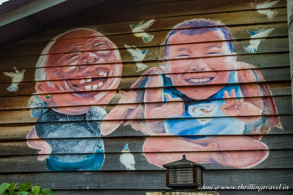 Street Art Greeting you to Chew Jetty - One of the things to do in Penang
