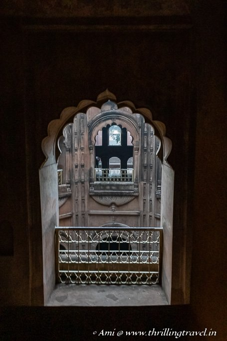 The artistic windows of the Shahi Baoli
