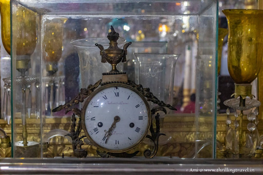 Antique clock from Paris in the Azakhana