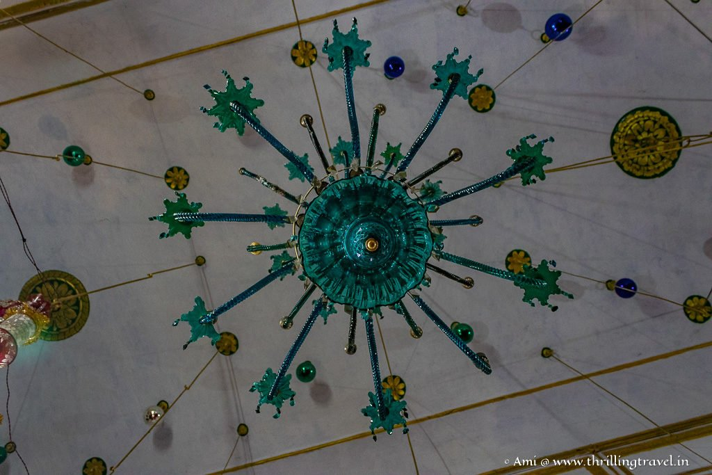 Close up of one Chandelier
