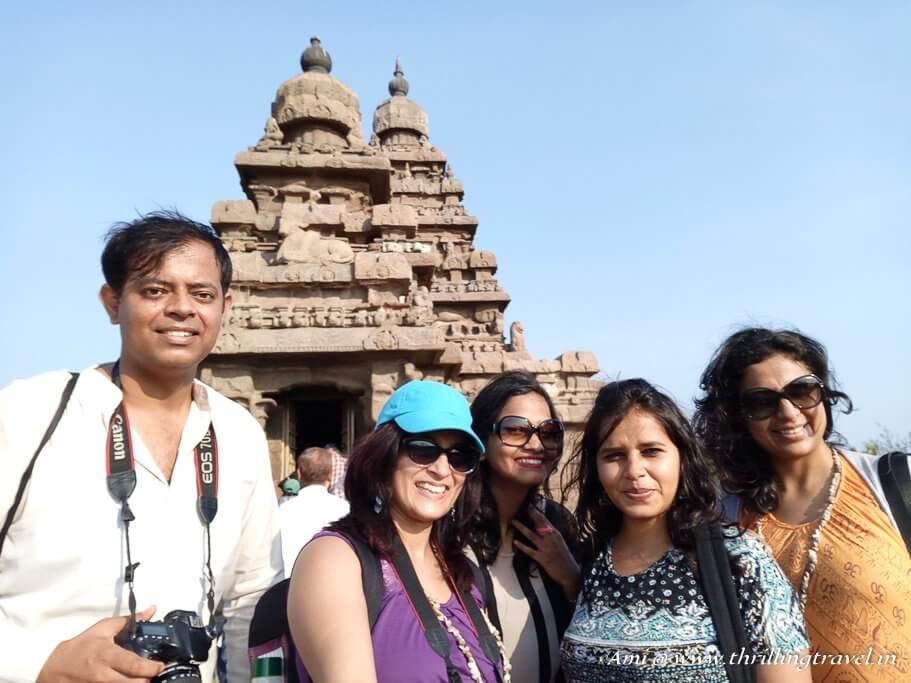 Travel Flashback 2017 - At Mahabalipuram with Abhinav, Swati, Deepti and Medhavi