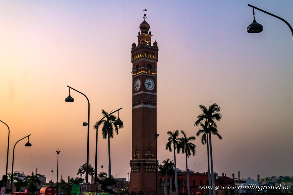 Hussainabad Clock Tower near Rumi Darwaza in Lucknow
