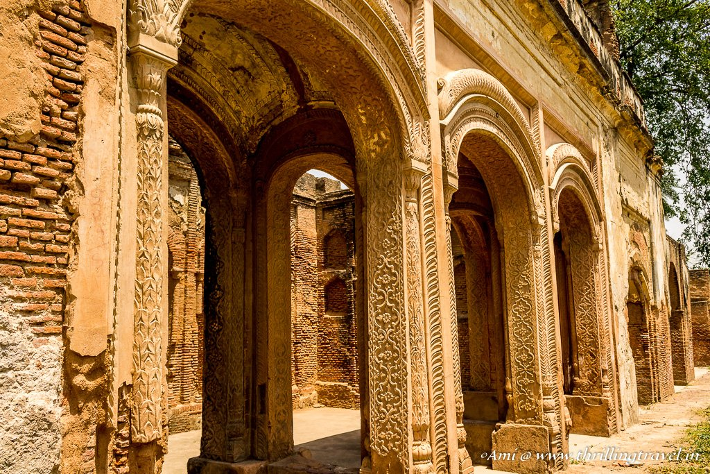 The arched doorways of the Banquet hall at The Residency Lucknow