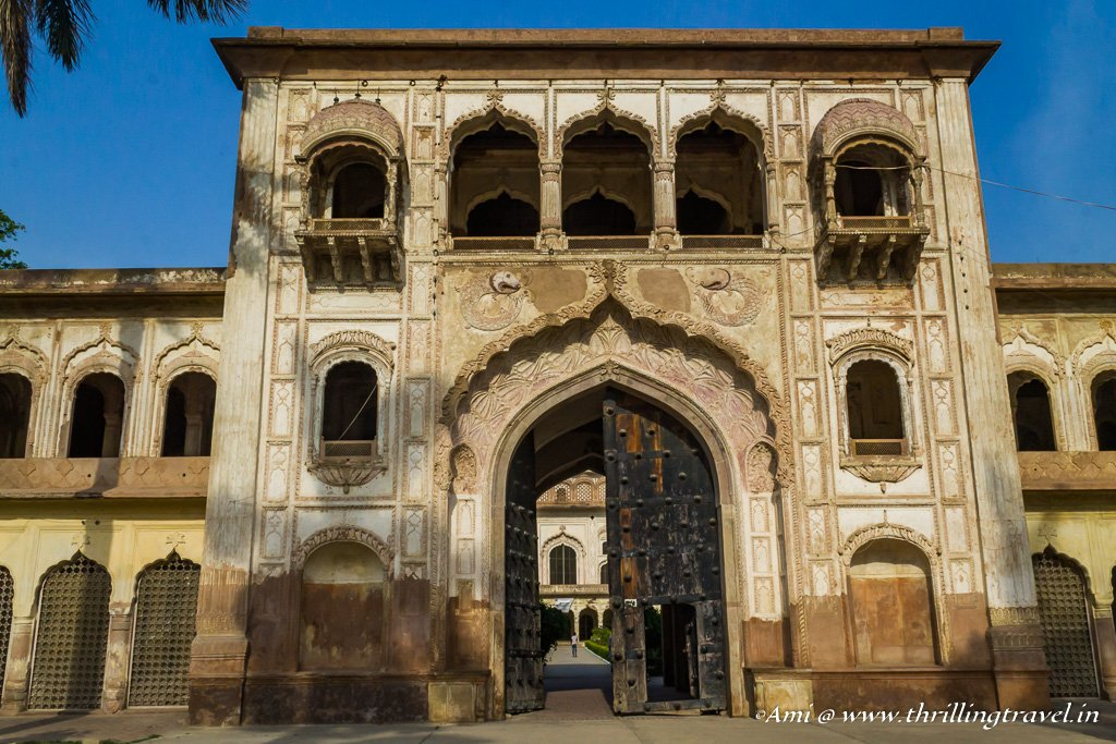 The arched gateway to Gulab Bari in Faizabad