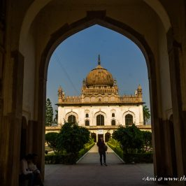 The tomb of the Nawab at the Gulab Bari in Faizabad