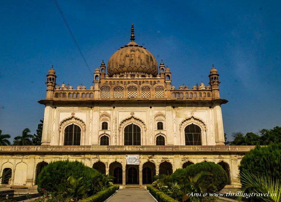 Gulab Bari with the Mausoleum in Faizabad
