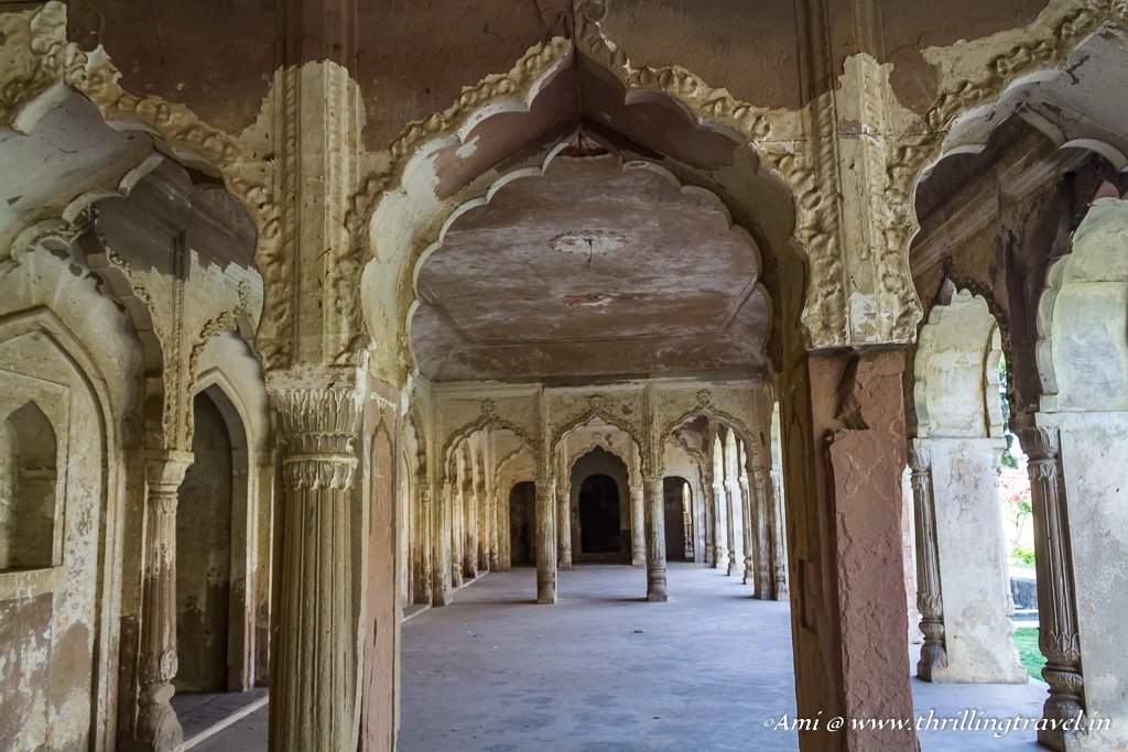 The arched passages of the Maqbara in Faizabad