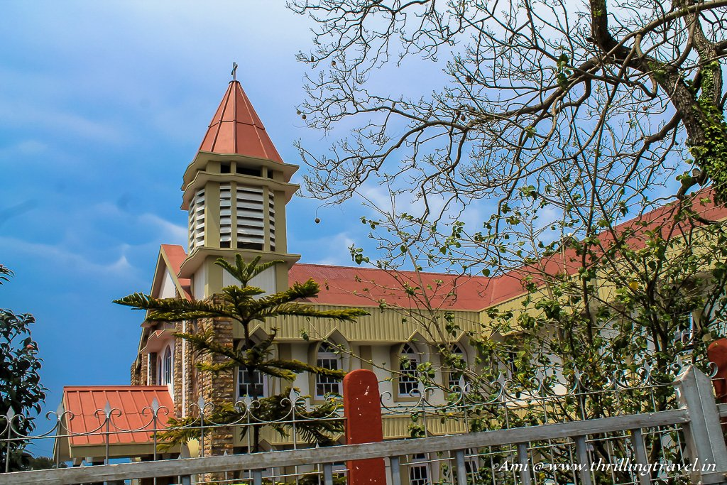One of the smaller churches in Shillong