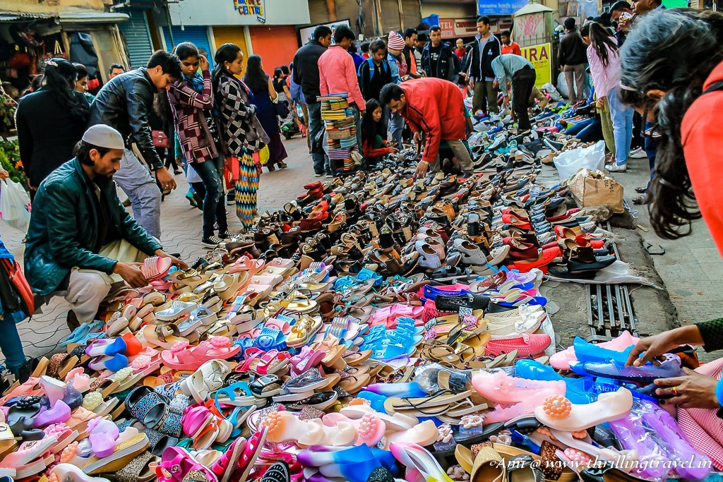 Shoes on sale at Police Bazar in Shillong
