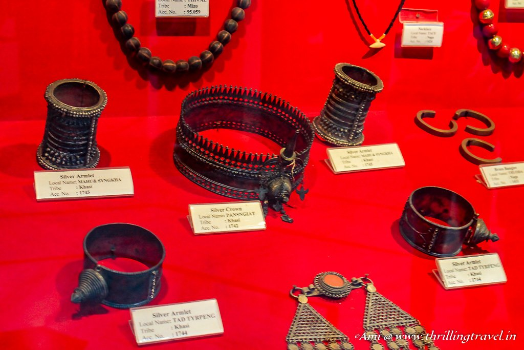 Jewelry used by the North Eastern Tribes displayed at Don Bosco Center for Indigenous Cultures, Shillong
