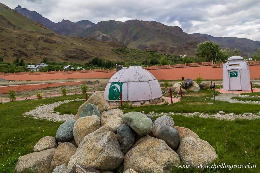 Enemy bunkers kept at Kargil War Memorial