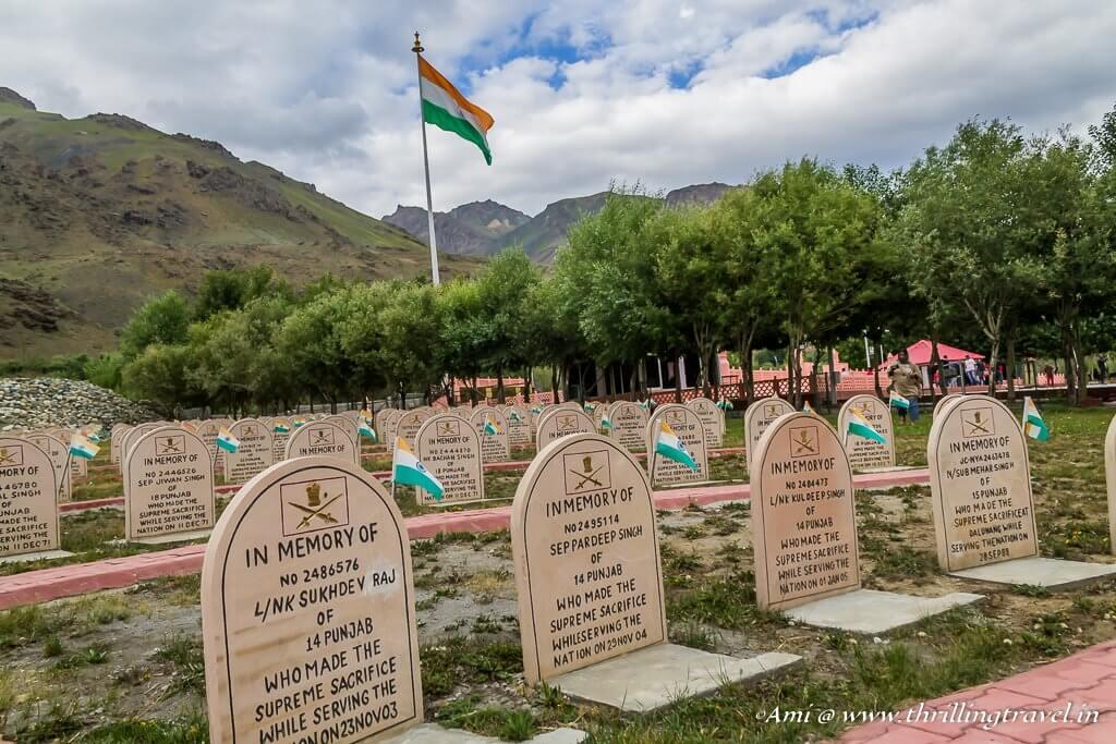 Epitaphs at Kargil War Memorial