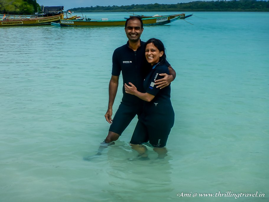 Happy After the First Scuba Dive at Havelock
