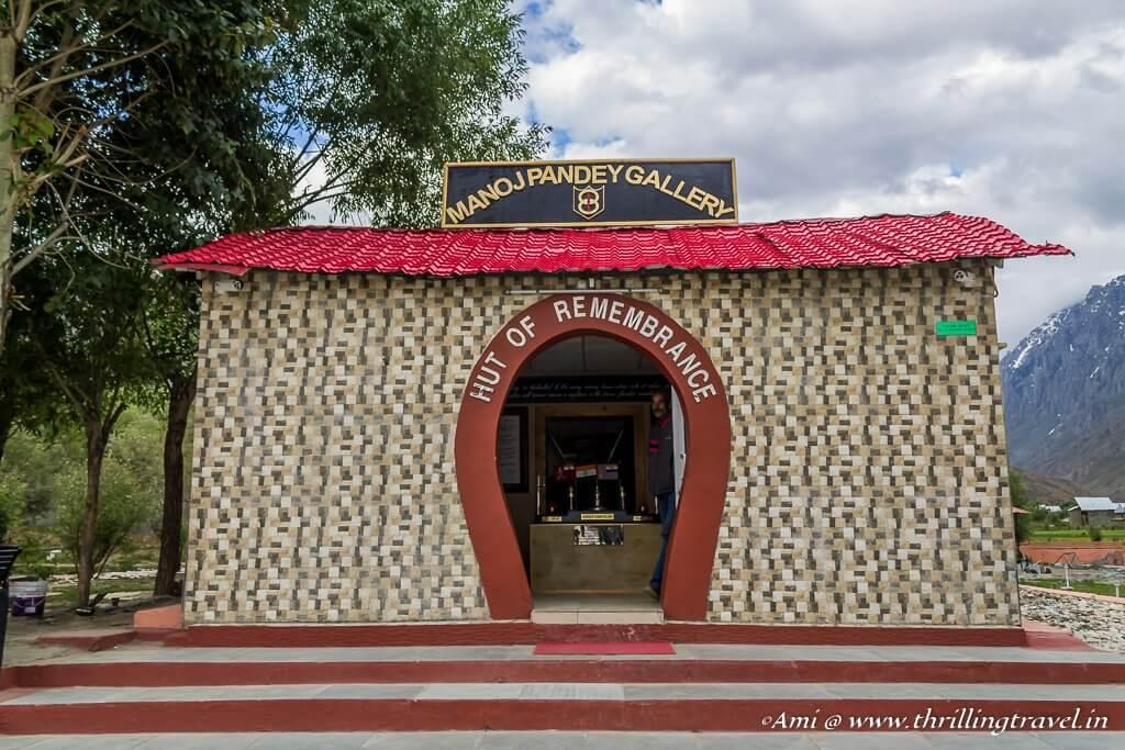 Hut of Remembrance or the Manoj Pandey Gallery at Kargil War Memorial