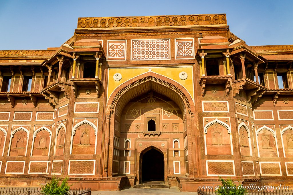 Entrance to the Jahangari Mahal at Agra Fort