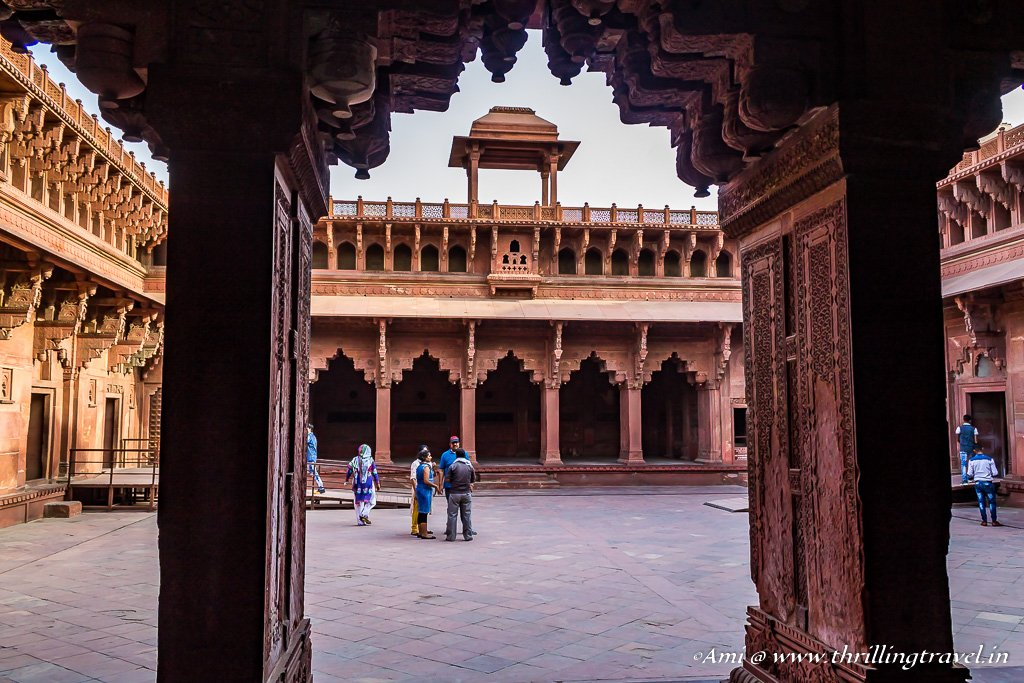 Courtyard of Jahangari Palace, Agra Fort