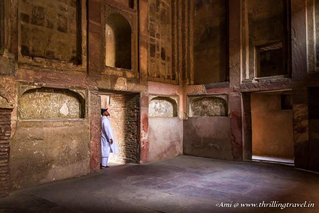 One of the rooms of the Jahangiri Mahal, Agra Fort