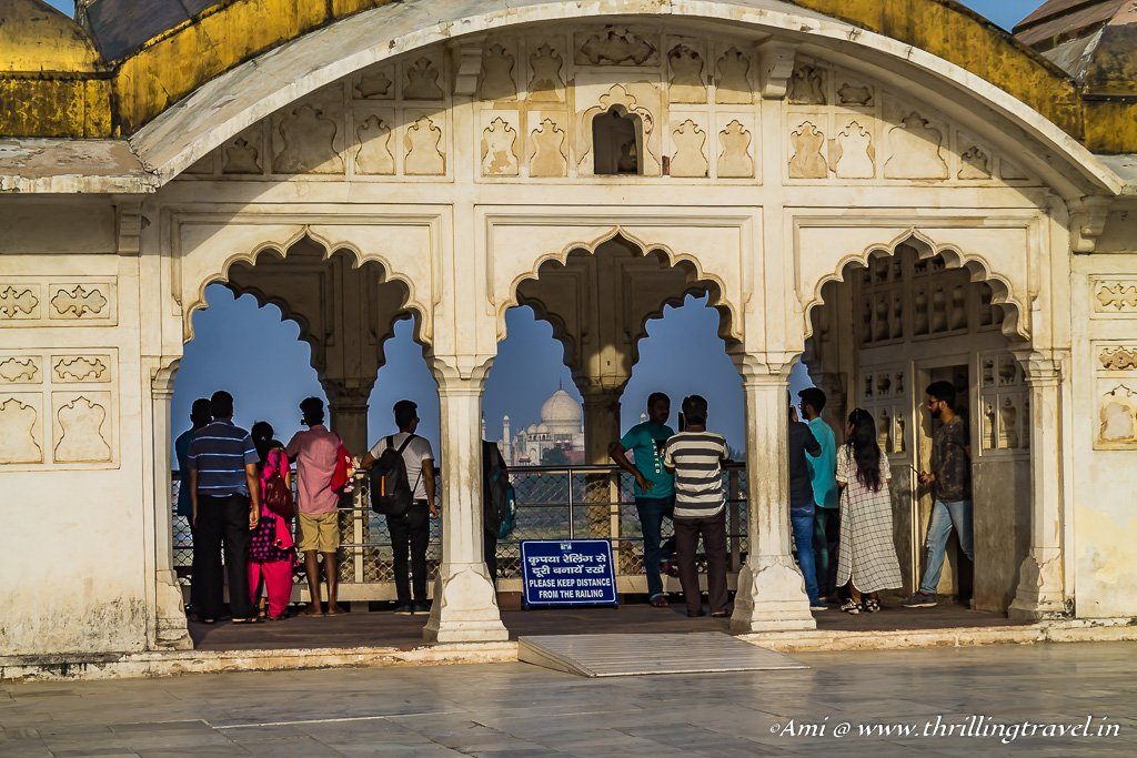 One of the Golden Pavilions along the Anguri Bagh of Agra Fort