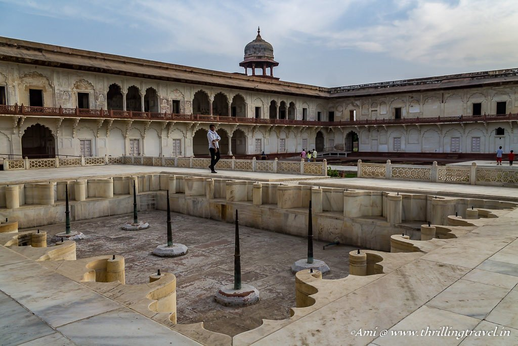 The fountain in front of Khas Mahal at Agra Fort