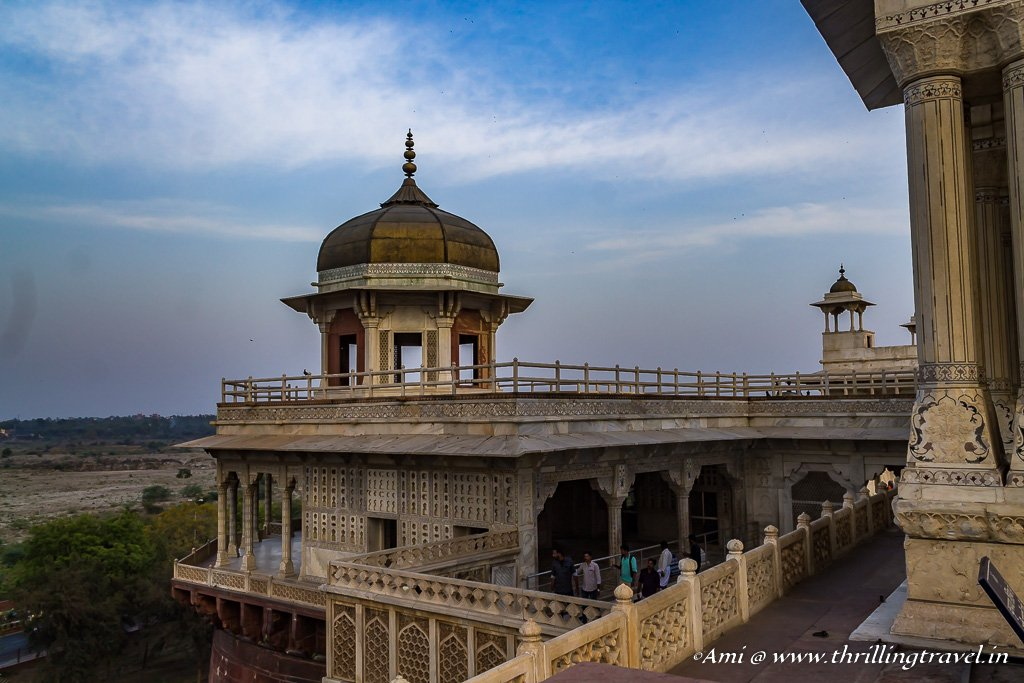 Musamman Burj, from the Diwan-i-Khas of Agra Fort